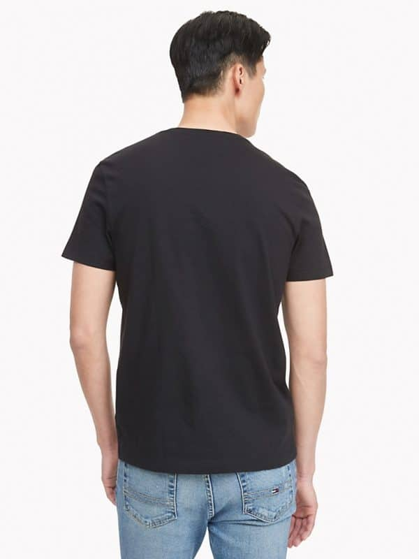 Camiseta Hombre Tommy Hilfiger T-Shirt Essential Flag Logo Black | Original