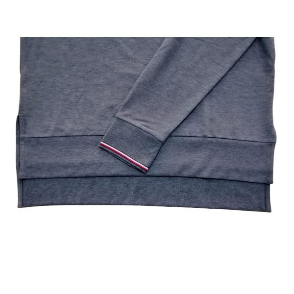 Buzo Mujer Tommy Hilfiger Essential Stripe Cuff Top Grey Heather   Original