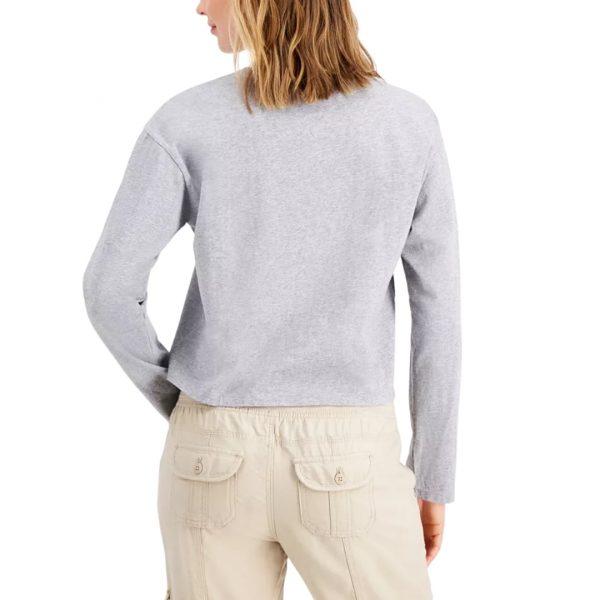 Buzo Mujer Tommy Hilfiger Long-Sleeve Big Flat Stone Grey Heather | Original