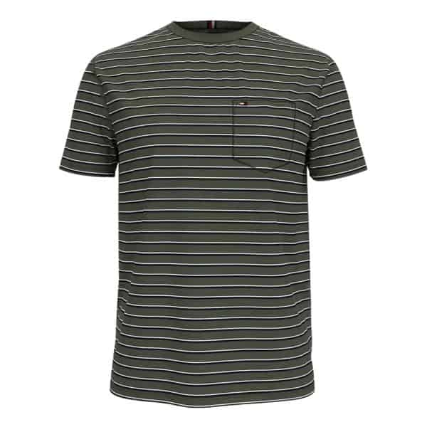 Camiseta Hombre Tommy Hilfiger Essential Stripe Pocket Limoges Blue | Original