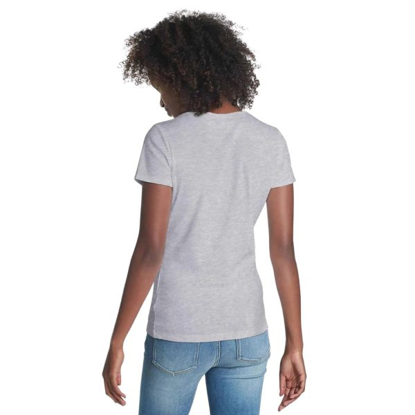 Camiseta Mujer Tommy Hilfiger T-Shirt Essential Split-Neck Grey Heather | Original
