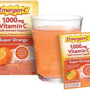 Emergen-C Vitamina C 1000mg Polvo Sabor naranja | 10 Sobres en Polvo