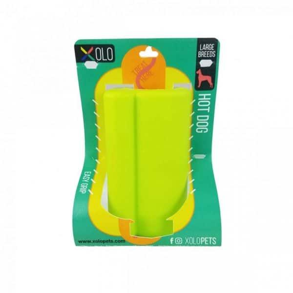 Juguete dispensador de golosinas para perros razas grandes | Hot dog Verde