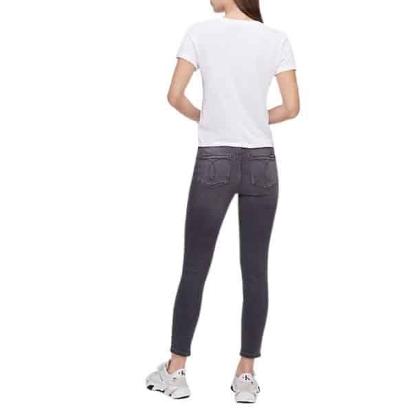 Camiseta Mujer Calvin Klein Mirror Monogram Logo Baby T-Shirt White   Original