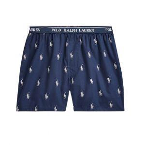 Boxer Hombre Polo Ralph Lauren Men's Signature-Print Woven Cotton Dark Blue | Original
