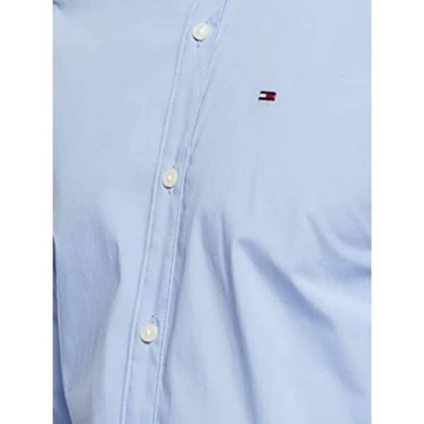 Camisa Manga Larga Hombre Tommy Hilfiger Custom Fit Essential Blue Navy   Original