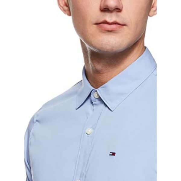 Camisa Manga Larga Hombre Tommy Hilfiger Custom Fit Essential Blue Navy | Original