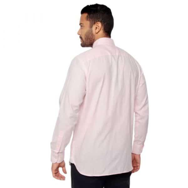 Camisa Manga Larga Hombre Tommy Hilfiger Slim Fit Stretch Rosa Claro  Original