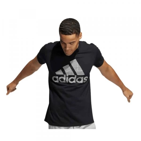 Camiseta Hombre Adidas Badge Of Sport Intercept Tee Printed Black   Original