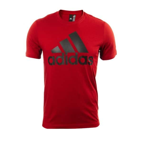 Camiseta Hombre Adidas Badge Of Sport Intercept Logo Red   Original