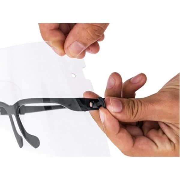 Careta Panorámica Protector Facial tipo Gafas