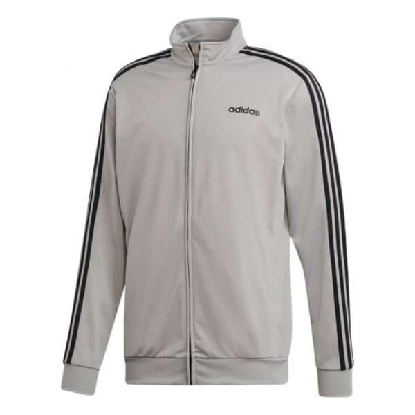 Chaqueta Hombre Adidas Essential 3-Stripes Tricot Track Top Solid Gray   Original