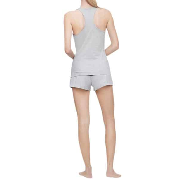 Conjunto de Dormir Camiseta y Short Mujer Calvin Klein Logo Tank + Shorts 2-Piece Grey Heather | Original