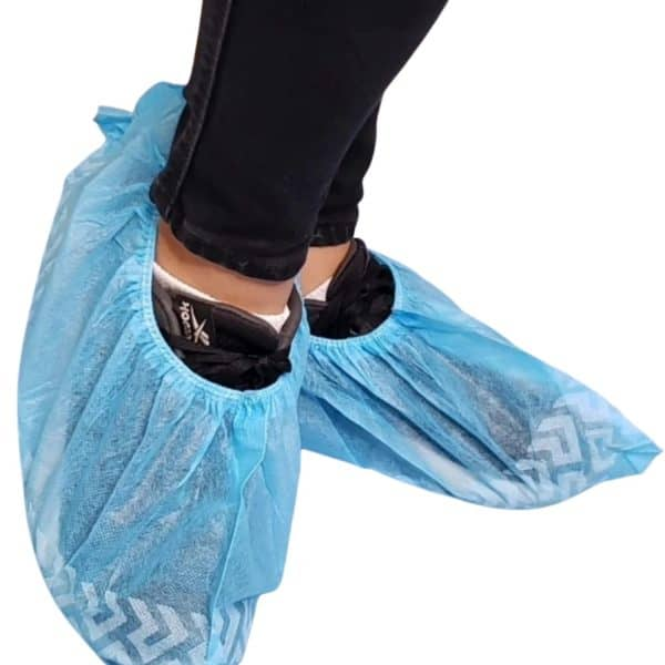 Zapatos Quirúrgicos Polainas Desechables Azul | 10 pares