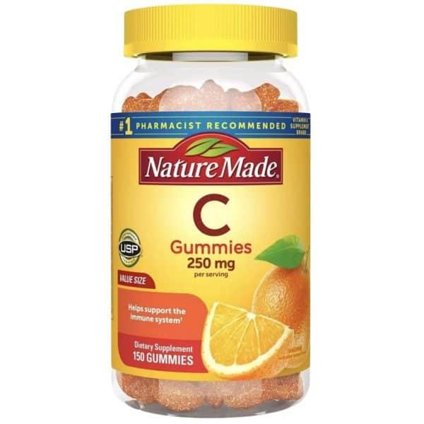 Gomas Vitamina C Nature Made 250 mg   150 Cápsulas