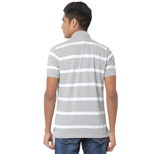Polo Hombre Tommy Hilfiger Breton Stripe White Grey | Original
