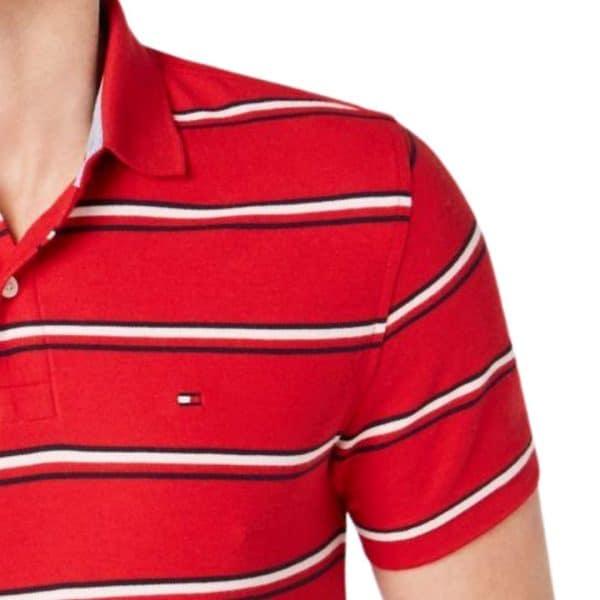 Polo Hombre Tommy Hilfiger Breton Stripe White Red | Original