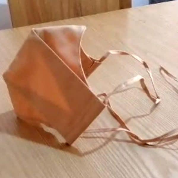 6 Tapabocas Ejecutivos modelo 3D Tela Antifluido 3 Capas Lavable con Amarre