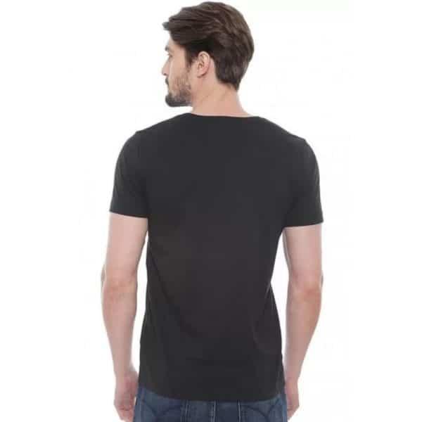 Camiseta Hombre Tommy Hilfiger Cuello en V Black   Original