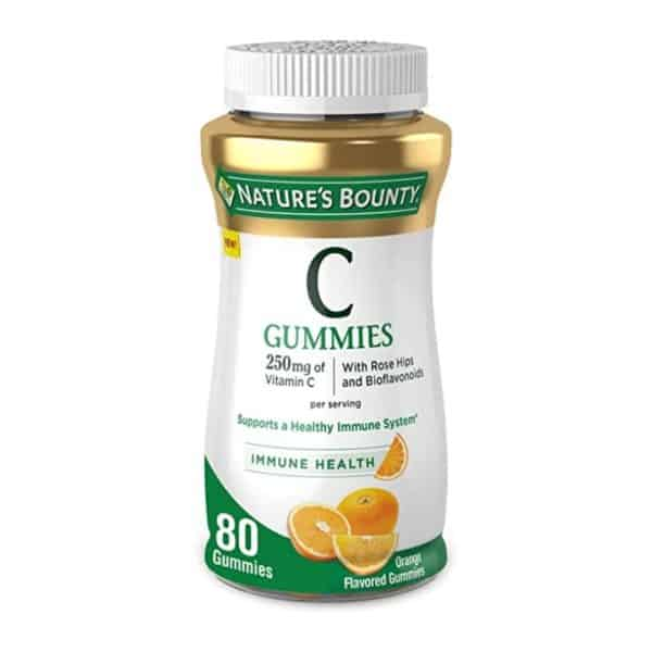 Vitamina C Nature's Bounty   80 Gomas Naranja